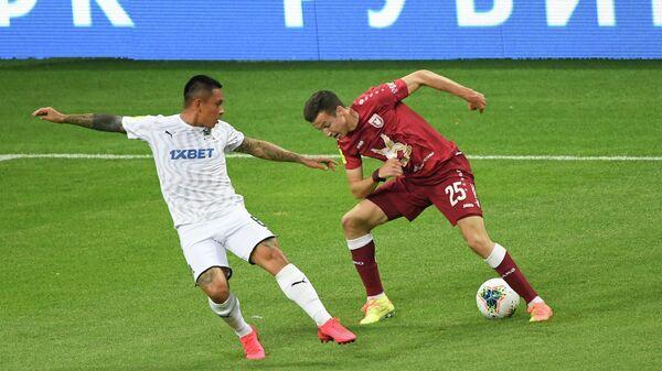 Игровой момент матча  Рубина - Краснодар