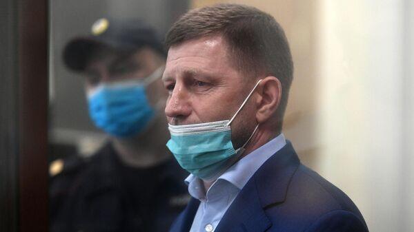 Губернатор Хабаровского края Сергей Фургал в Басманном суде Москвы