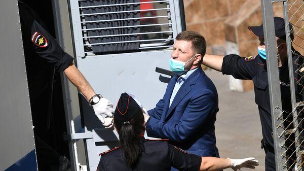 Губернатор Хабаровского края Сергей Фургал, арестованный Басманным судом Москвы