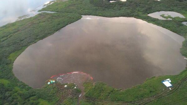 Разлив топлива в поселке Тухард Красноярского края