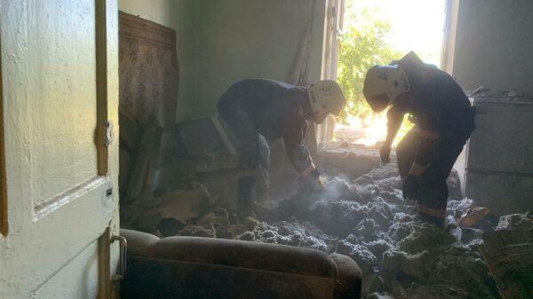 Обрушение потолочных перекрытий в двухэтажном жилом доме в Новосибирске