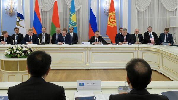Первое заседание межправительственного совета ЕАЭС. 6 февраля 2015 года
