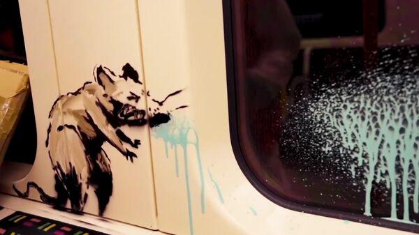 Граффити на тему пандемии коронавируса британского художника Бэнкси в Лондонском метро