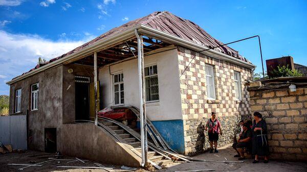 Последствия обстрела в селе Дондар Гушчу Товузского района Азербайджана