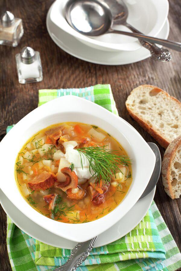 Суп из сушеных грибов и картофеля