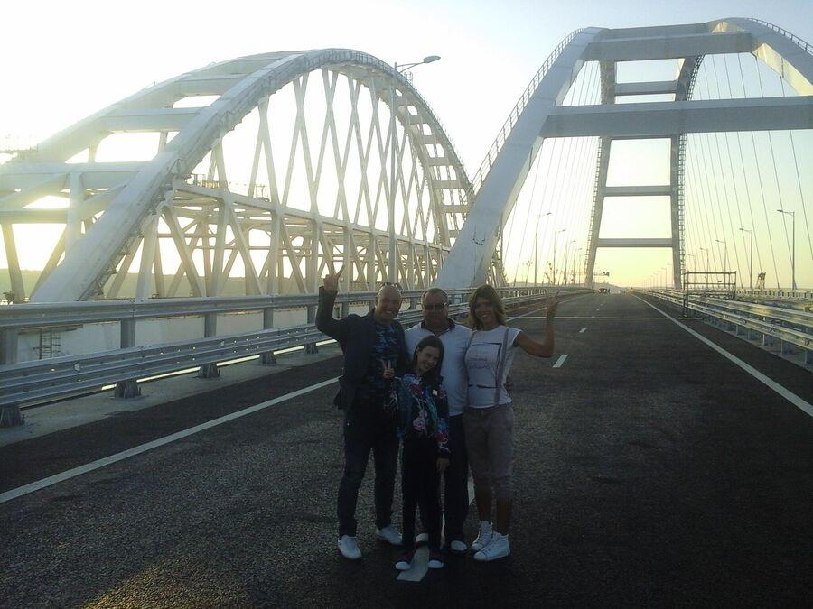 Денис Майданов на Крымском мосту