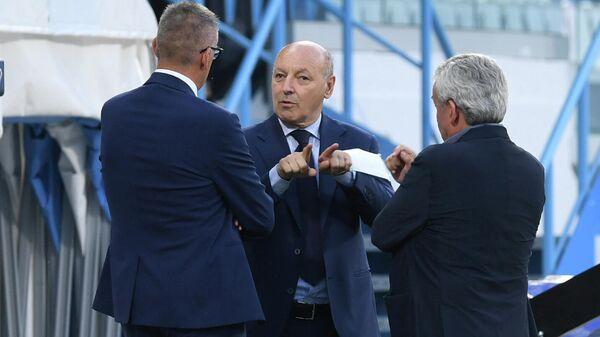 Генеральный директор Интера Джузеппе Маротта перед матчем Серии А с клубом СПАЛ
