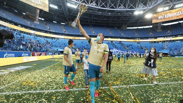 Церемония награждения чемпионов России по футболу