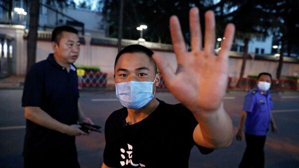Ситуация у консульства США в городе Чэнду провинции Сычуань
