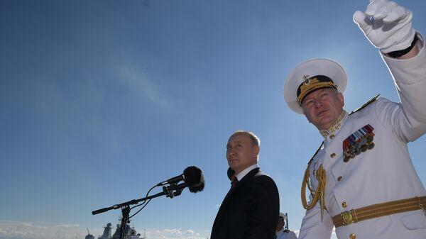 Путин заявил о росте уровня оснащения Военно-морского флота России