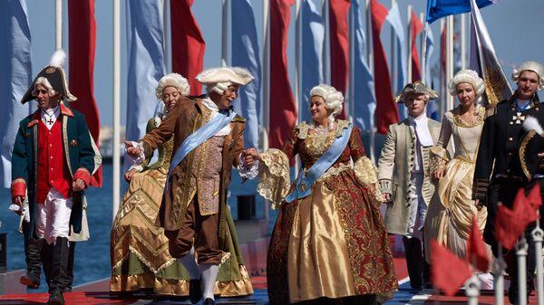Театрализованное представление на праздновании Дня ВМФ в Севастополе