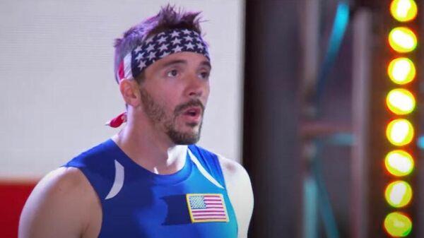 Стоп-кадр видео из шоу American Ninja Warrior