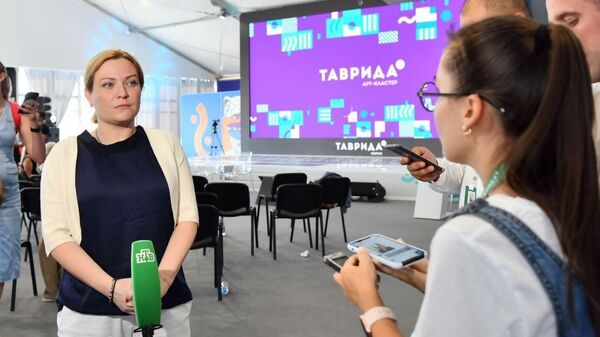 Министр культуры РФ Ольга Любимова на молодежном форуме Таврида