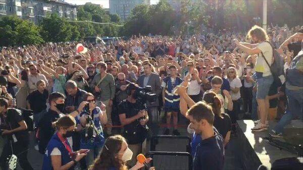 Перемен! : акция в поддержку Тихановской в центре Минска