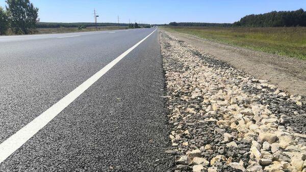 Участок дороги Работки-Порецкое в Нижегородской области