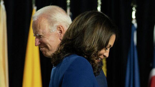 Кандидат в президенты США Джо Байден и сенатор Камала Харрис
