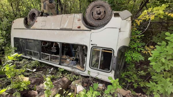 Последствия ДТП на 416 километре автомобильной дороги Самара Оренбург