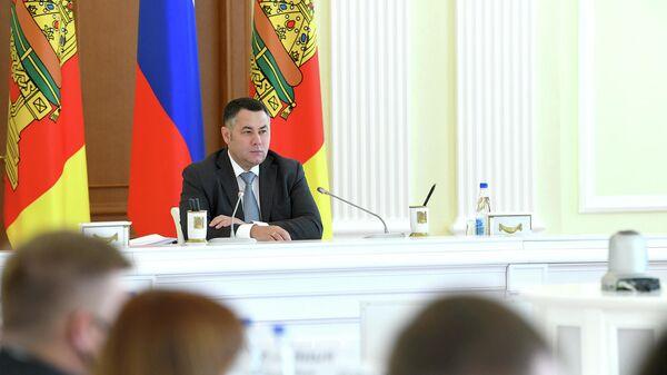 Губернатор Тверской области Игорь Руденя на заседании регионального правительства