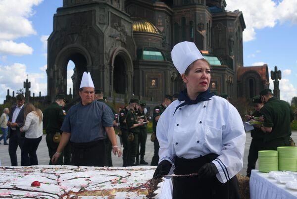 На православной яблочной ярмарке, приуроченной к празднику Преображения Господня