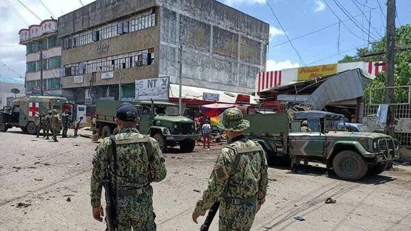 Место взрывав городе Холо на юге Филиппин. 24 августа 2020