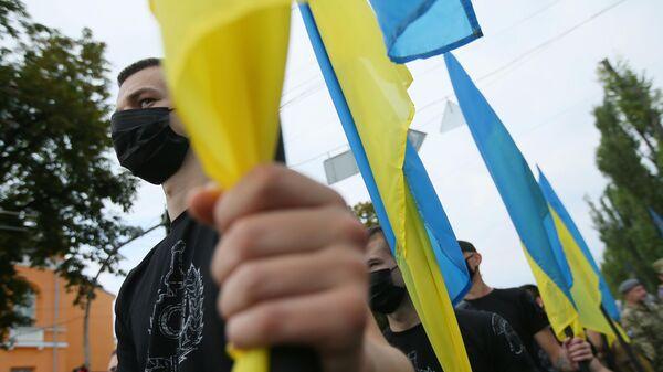 Участники Марша защитников Украины
