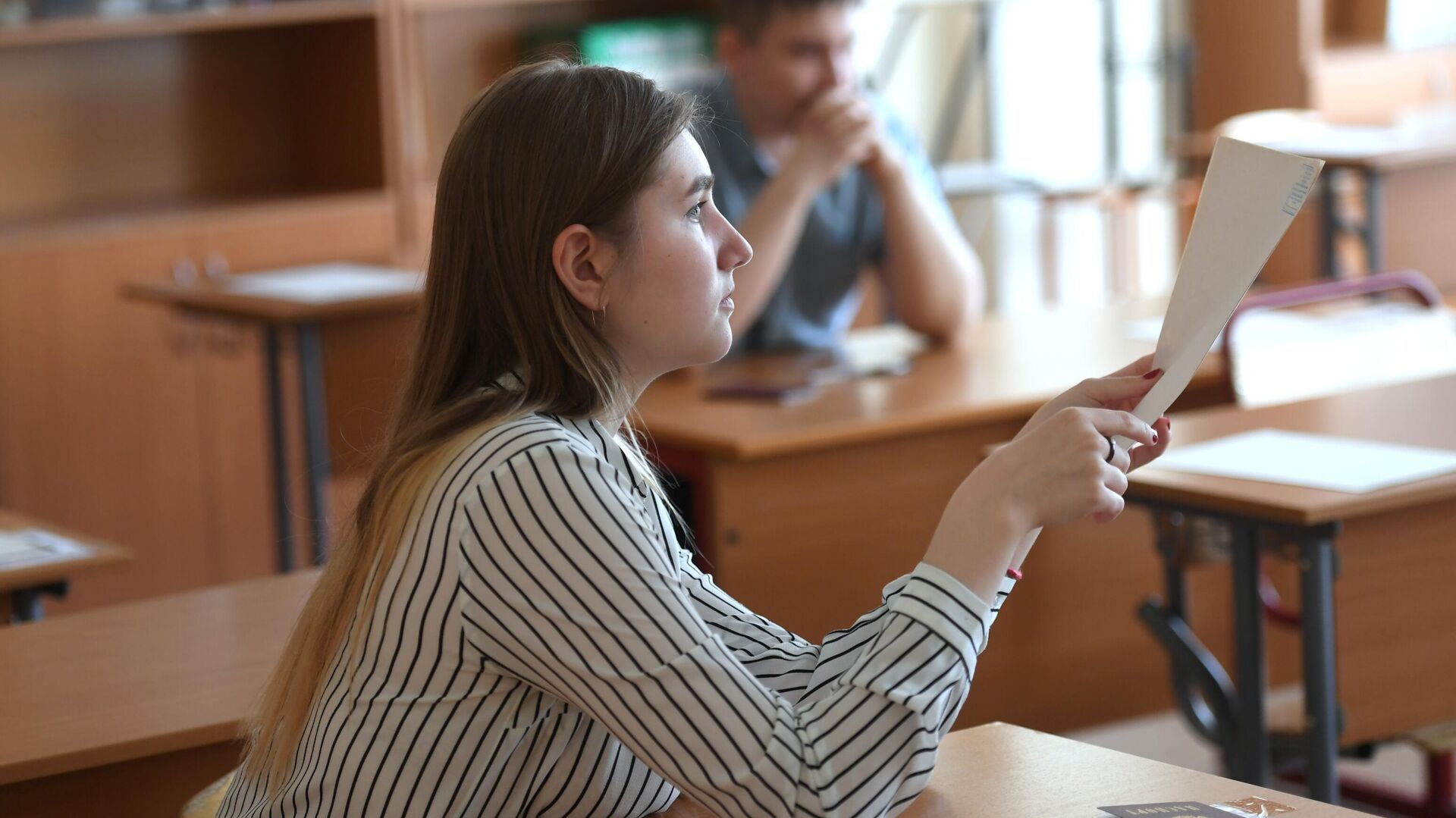 Экзамен в одной из школ Москвы  - РИА Новости, 1920, 03.11.2020