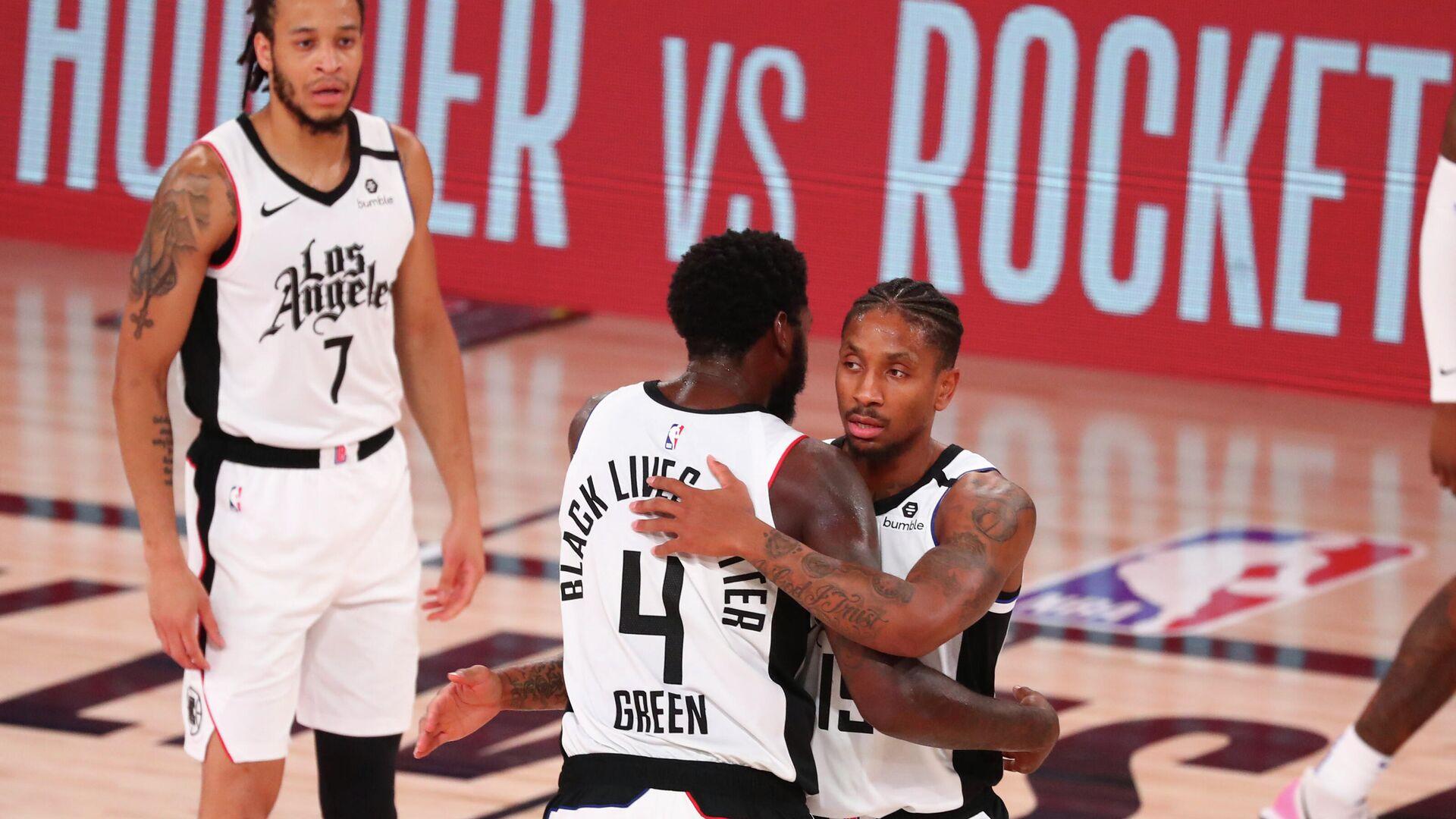 Баскетболисты Лос-Анджелес Клипперс в матче плей-офф НБА - РИА Новости, 1920, 04.09.2020