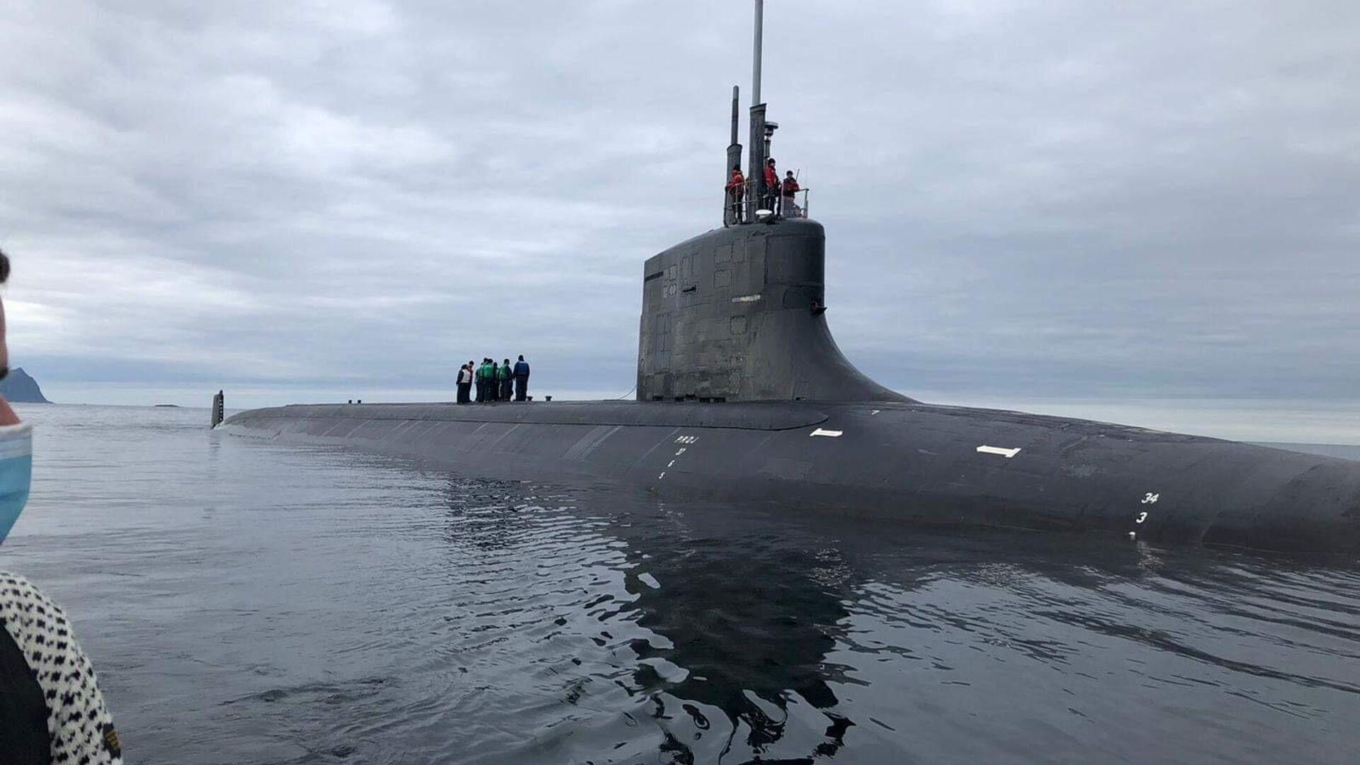 Американская подводная лодка USS Seawolf (SSN 21) в окрестностях Тромсё - РИА Новости, 1920, 02.09.2020