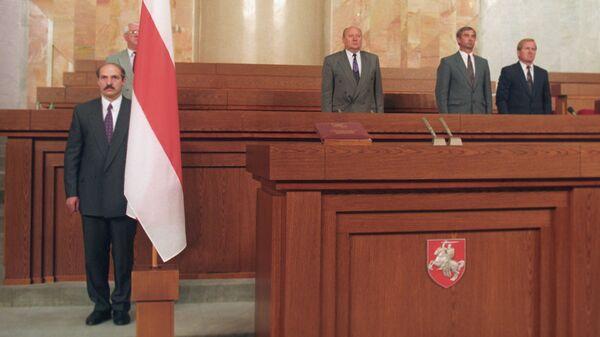 Президент Белоруссии Александр Лукашенко на заседании специальной сессии республиканского парламента