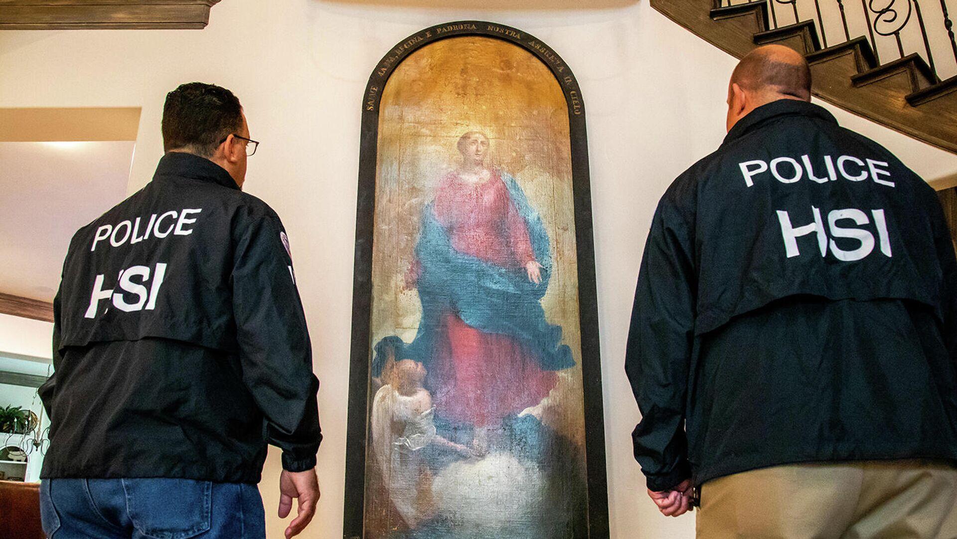 В Техасе нашли украденную из итальянского аббатства старинную картину - РИА Новости, 1920, 04.09.2020