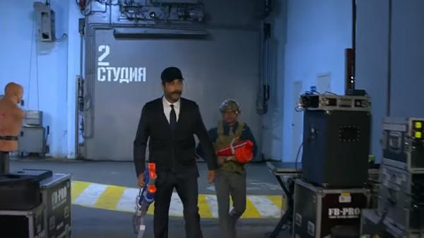 Телеведущий Иван Ургант и комик Дмитрий Хрусталев