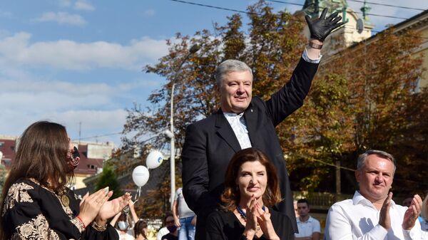 Встреча Петра Порошенко с жителями в рамках старта избирательной кампании в местные советы и выдвижения кандидата в мэры во Львов
