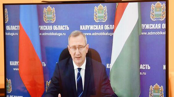 Президент РФ В. Путин встретился с врио губернатора Калужской области В. Шапшой