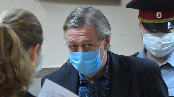 Актер Михаил Ефремов в здании Пресненского суда города Москвы