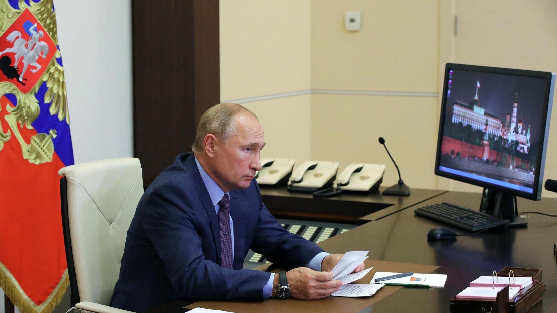 Президент РФ В. Путин провел совещание по ликвидации последствий наводнения в Иркутской области в 2019 году - РИА Новости, 1920, 08.09.2020