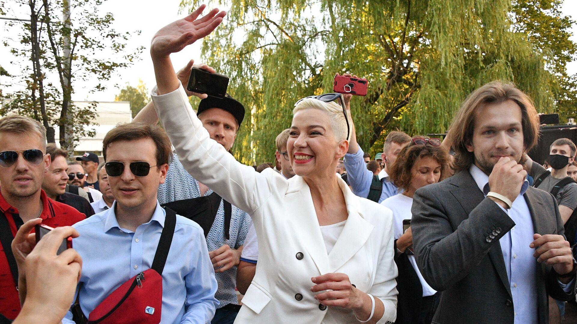 Мария Колесникова на митинге в Киевском сквере в Минске - РИА Новости, 1920, 18.09.2020