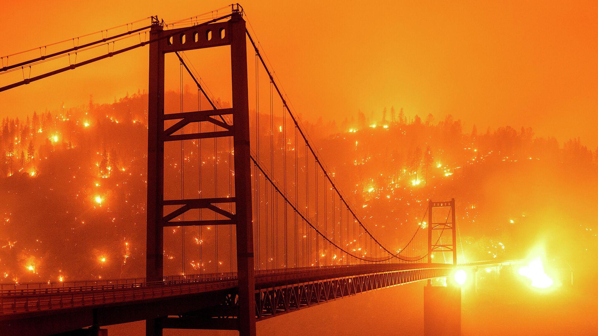 Лесной пожар в американском штате Калифорния - РИА Новости, 1920, 03.01.2021