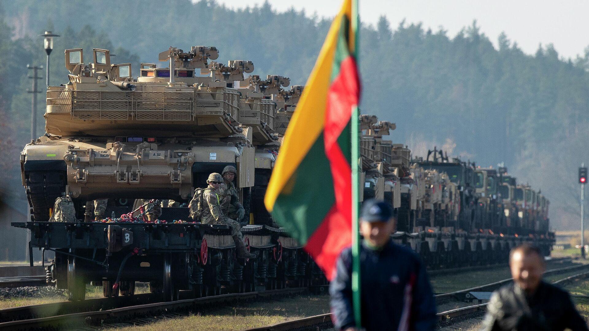 Беларусь  сказала  опереброске танкового батальона США вЛитву