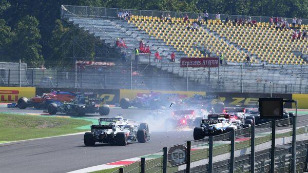 Авария во время гонки Гран-при Тосканы