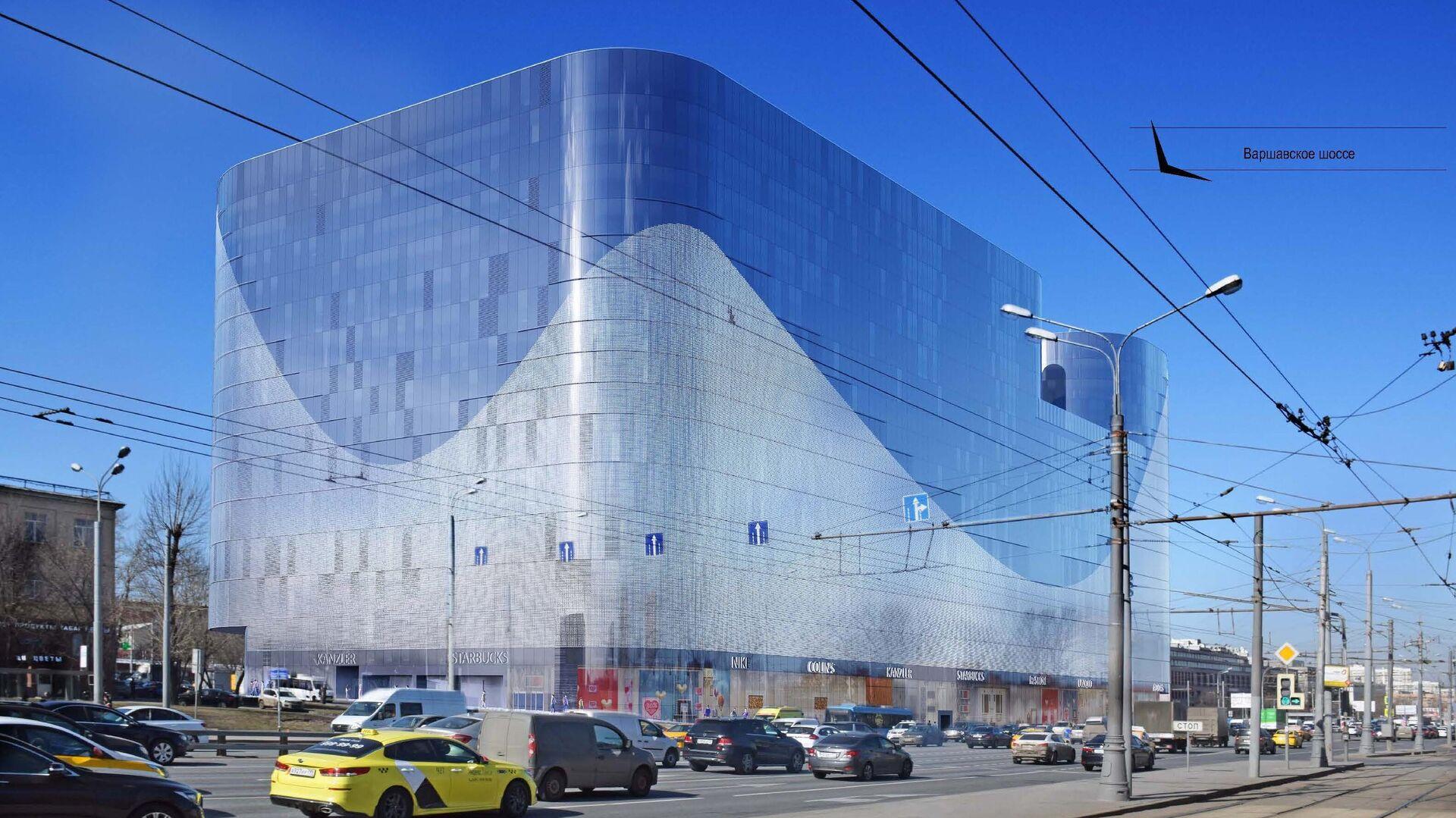 Проект офисно-торгового центра в рамках ТПУ Нагатинская - РИА Новости, 1920, 14.09.2020