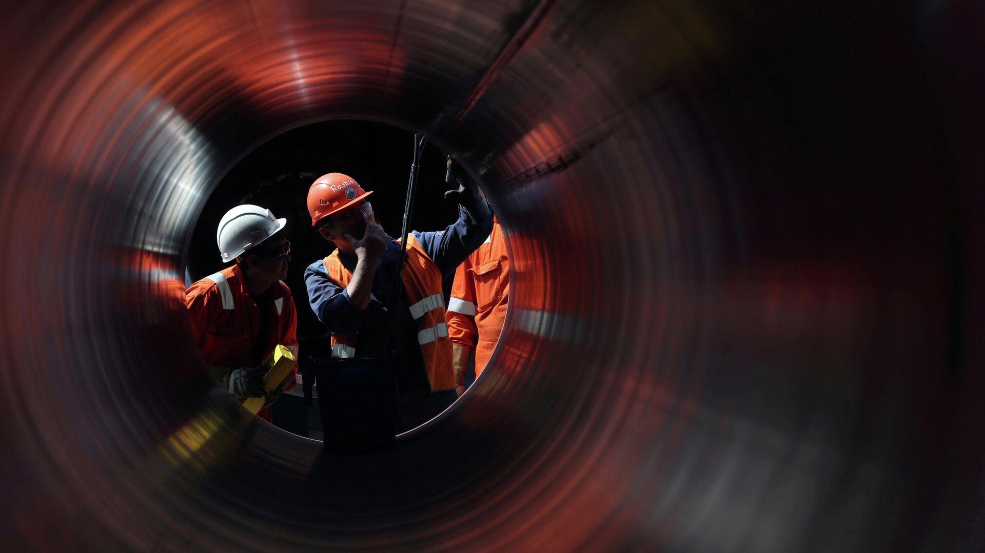 Рабочие на строительстве газопровода Северный поток-2 - РИА Новости, 1920, 25.09.2020