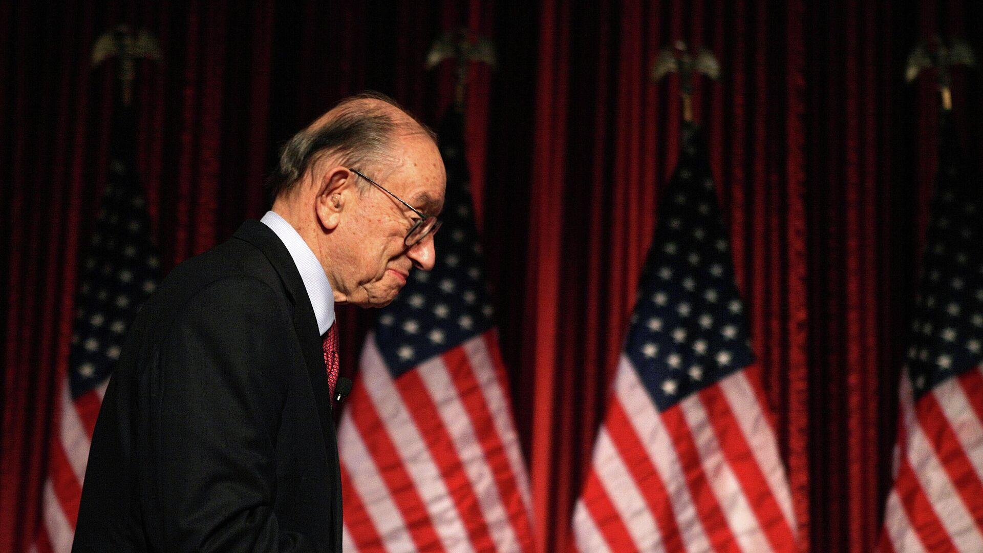 Экс-председатель ФРС США Алан Гринспен - РИА Новости, 1920, 16.09.2020