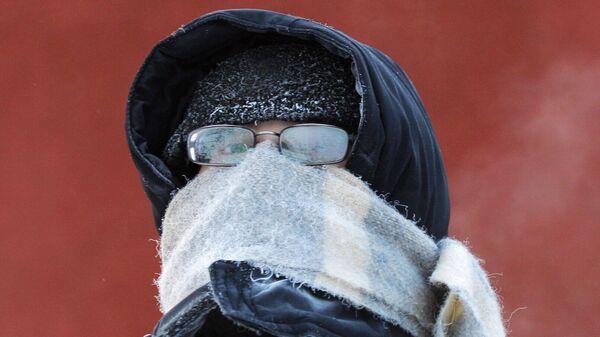 Зима в России.