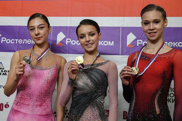Призеры женского одиночного катания на I этапе Кубка России