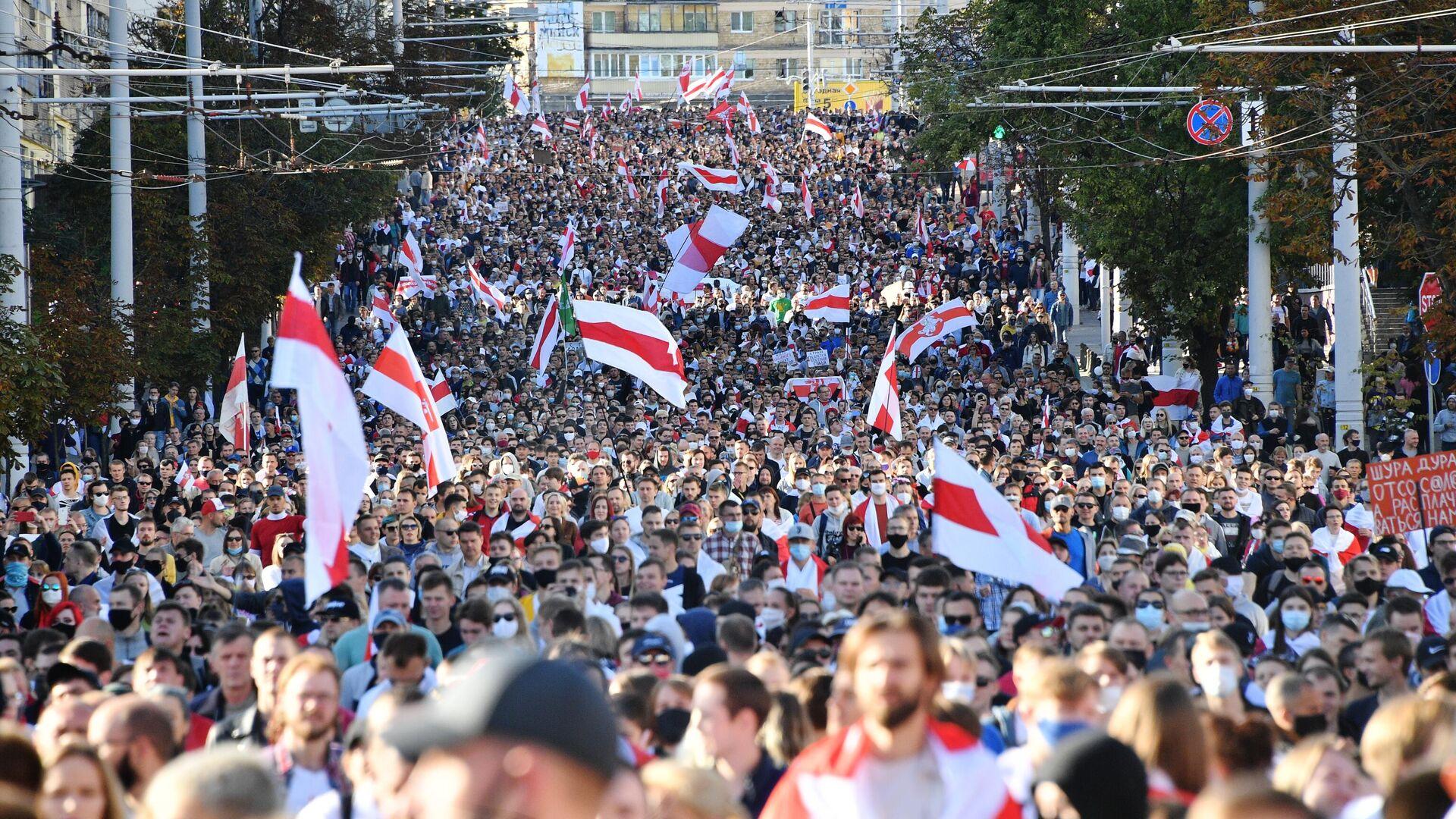 Акция протеста Марш Справедливости в Минске - РИА Новости, 1920, 20.09.2020
