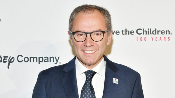 BEVERLY HILLS, CALIFORNIA - OCTOBER 02: Stefano Domenicali attends Save the Children's Centennial Celebration: Once In A Lifetime Presented By The Walt Disney Company at The Beverly Hilton Hotel on October 02, 2019 in Beverly Hills, California.   Amy Sussman/Getty Images/AFP