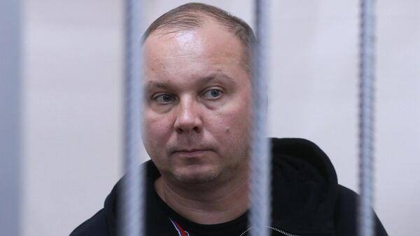 Руководитель ООО Меандр Евгений Ярмош, обвиняемый в хищении бюджетных средств в особо крупном размере, во время избрания меры пресечения в Басманном суде Москвы