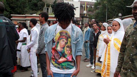 Празднование Мескеля в Аддис-Абебе, Эфиопия