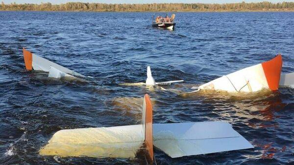 На месте падения легкомоторного самолета в Нижегородской области