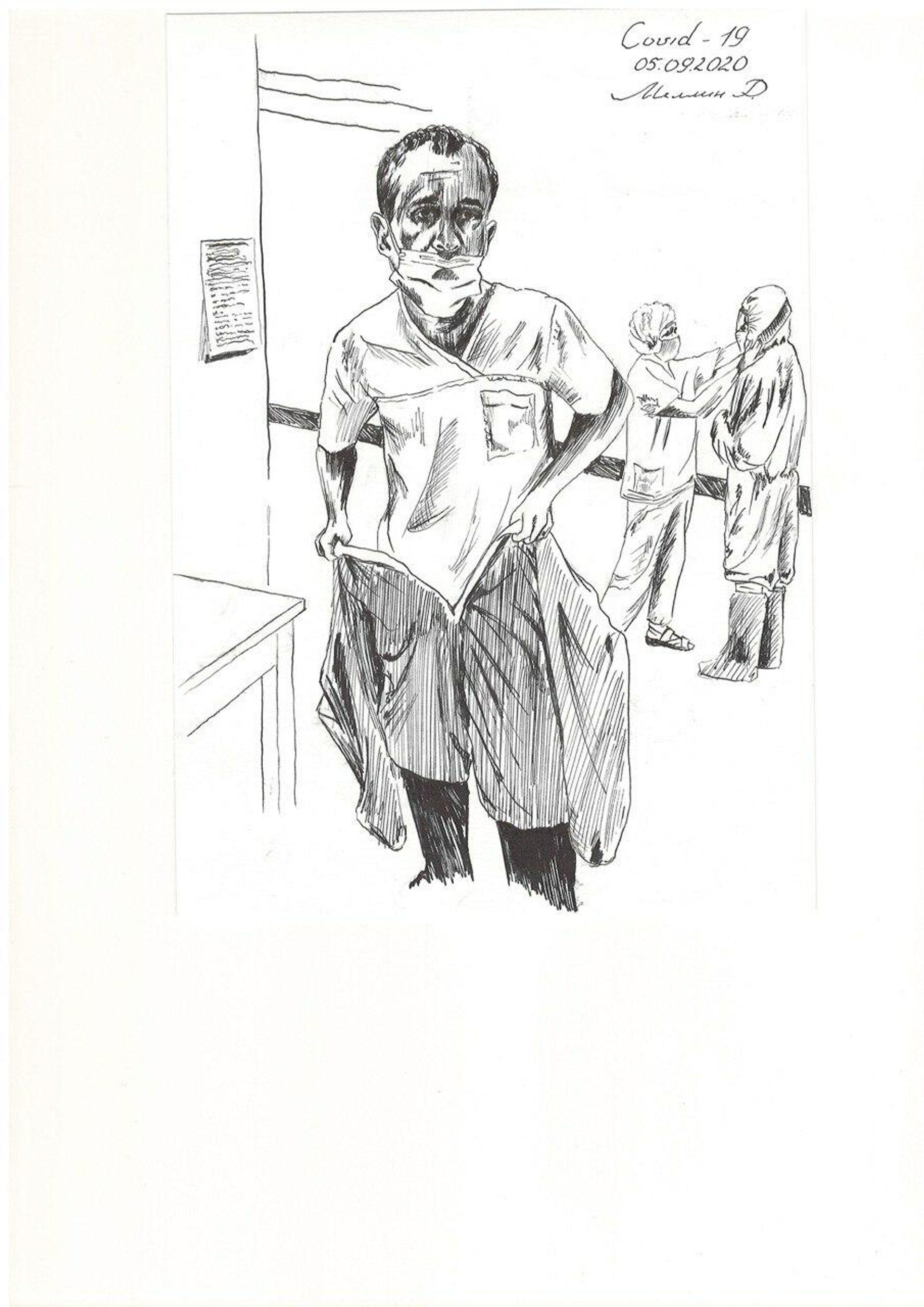 Рисунок хирурга Руслана Меллина - РИА Новости, 1920, 28.09.2020
